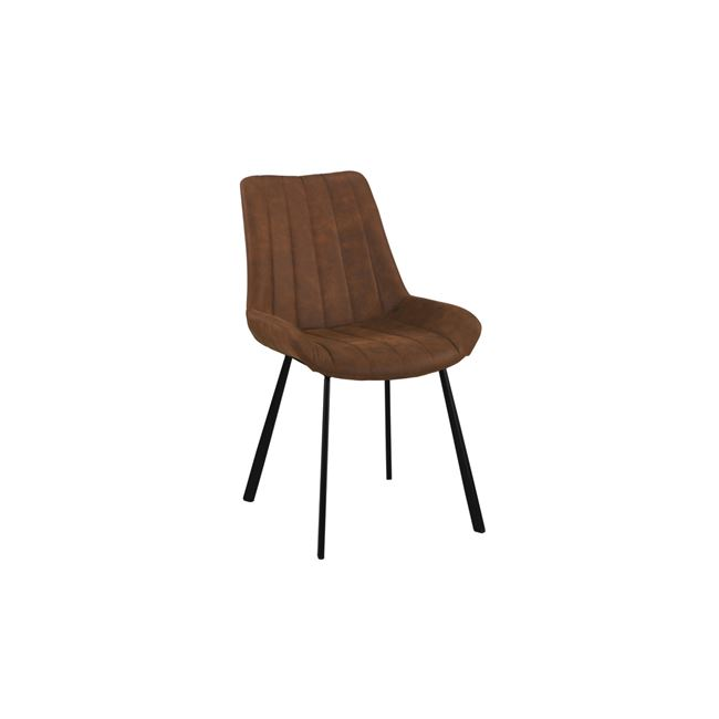 кафяв трапезарен метален стол Мат