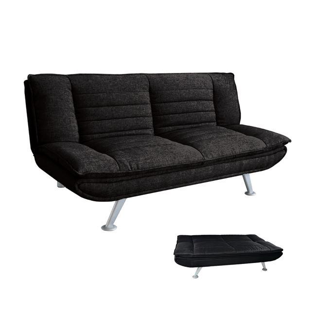 черен диван разтегателен elvira