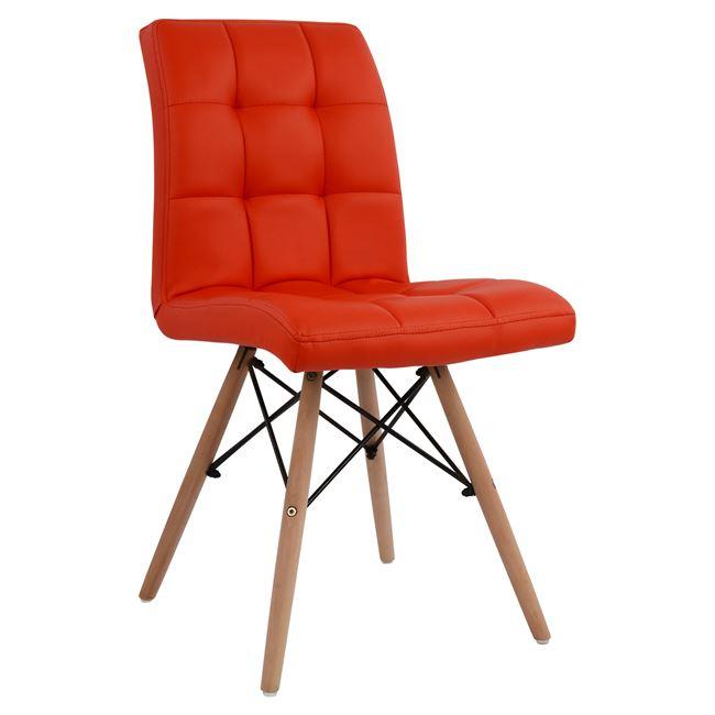 червен стол трапезен.дърво