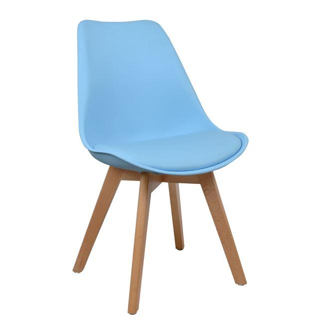 син трапезен стол,дърво