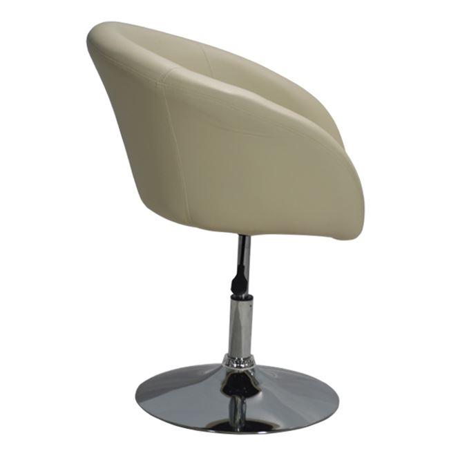 бежово кресло,хром,кресло