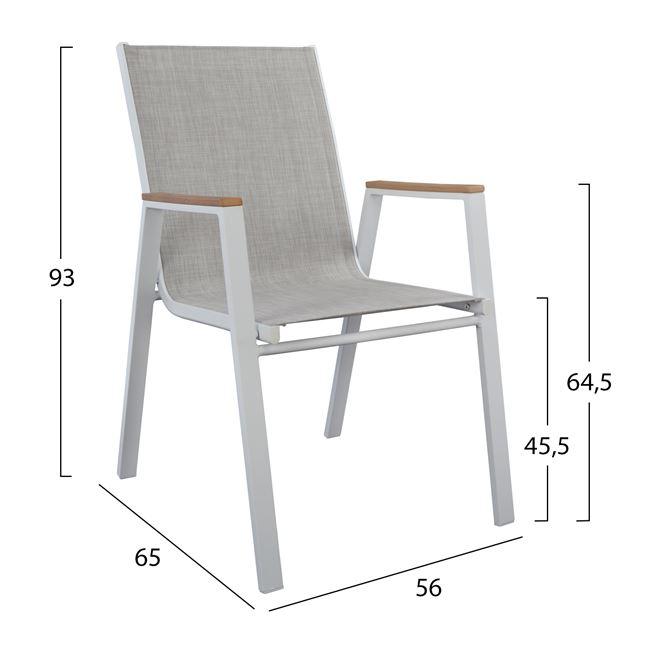 бял стол алуминиев,мрежа,текстилен