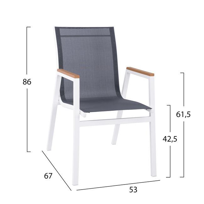 Градински стол НМ5697 - бял
