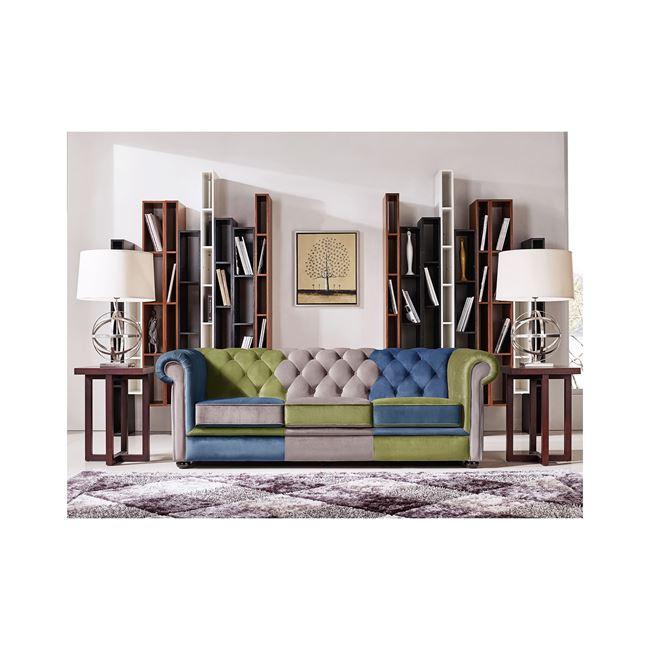 цветен диван с дамаска велур modena 3