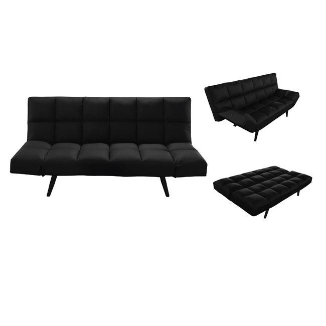 черен разтегателен диван motion