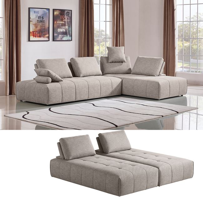 бежов диван multi white
