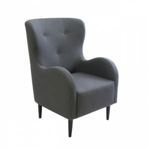 сиво кресло ,дървено victoria
