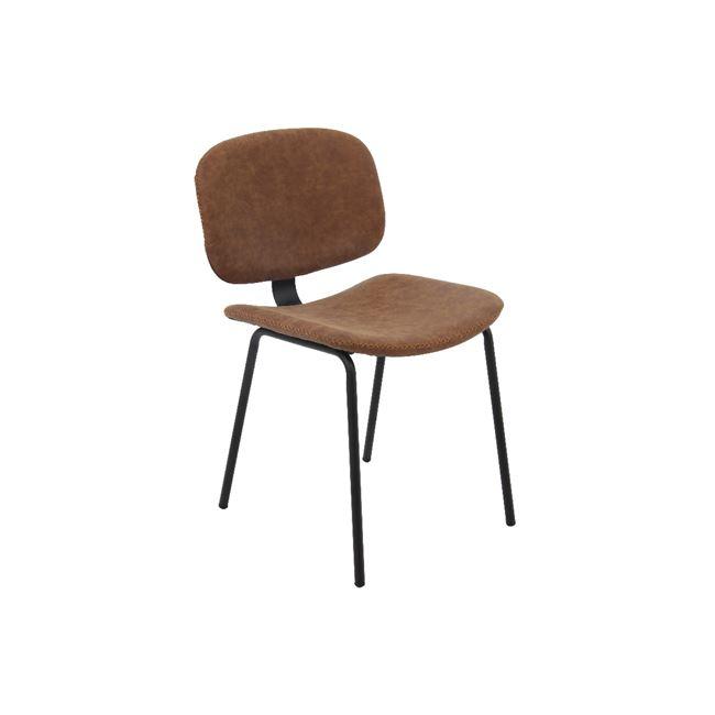 кафяв стол метален Barley 1