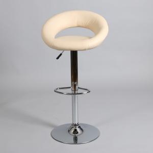 бежов бар стол Белт с хромирана метална конструкция