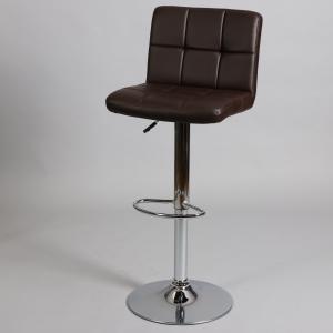 кафяв бар стол Лино с хромирана конструкция