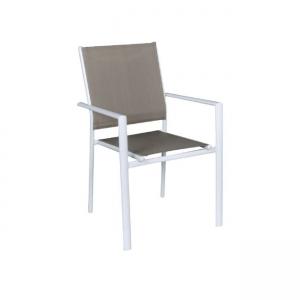 градински стол бял Lanson1