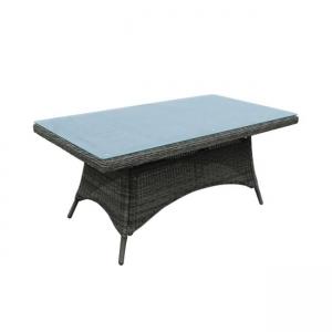 кафява трапезна,алуминиева маса Montana table