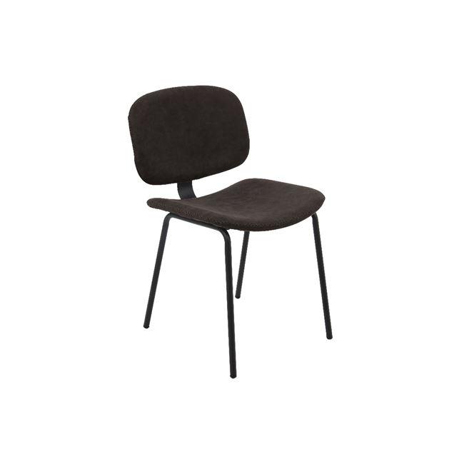 черен стол метален barley