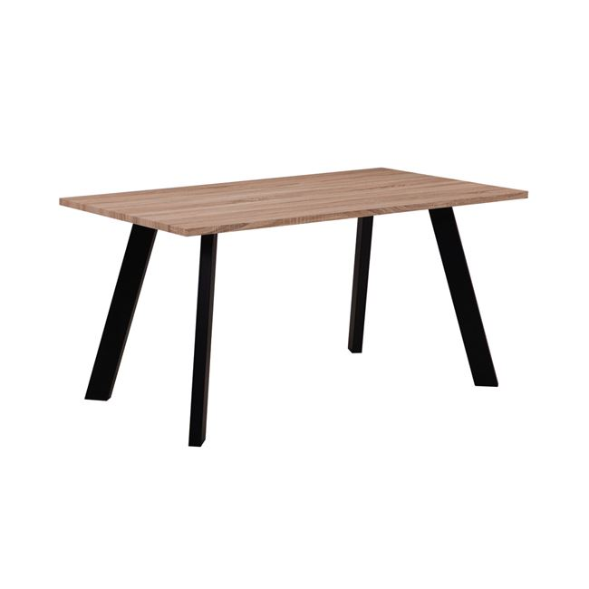 трапезарна маса с черни метални крака baxter