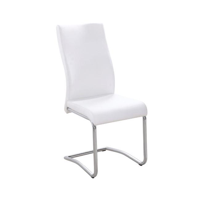 бял стол с метална конструкция benson