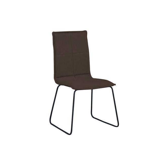 кафяв стол с метална черна конструкция cooper