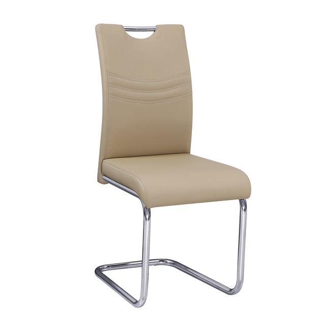 бежов стол с метална хромирана конструкция croft 1