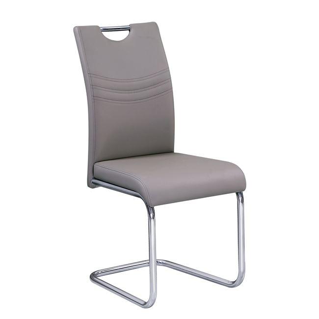 капуччино стол с хромирани крака croft 2