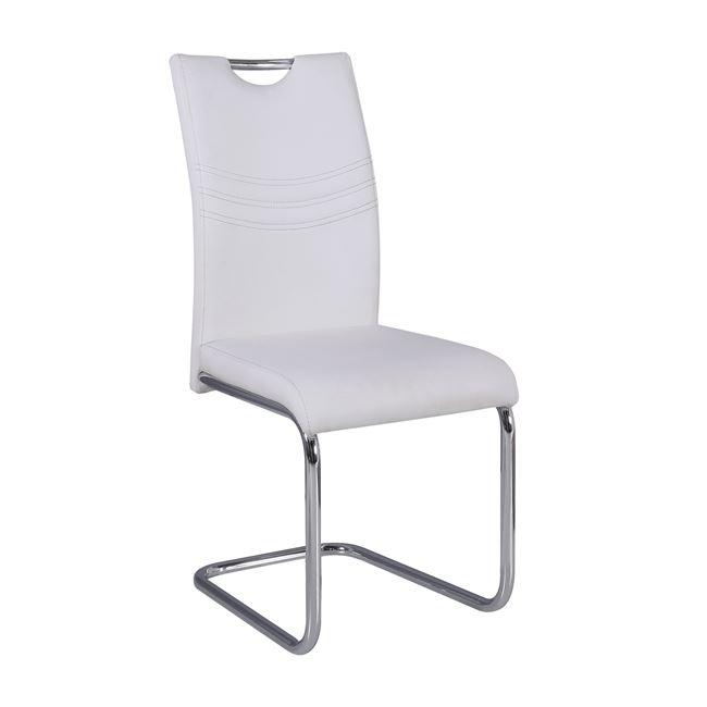 бял стол с хромирани крака croft 3