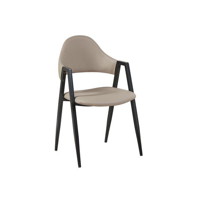 метален стол с дамаска капучино delta 2