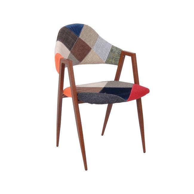 кафяв стол на кръпки delta 6