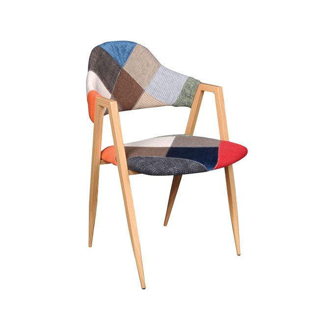 светъл стол с метални крака delta 7