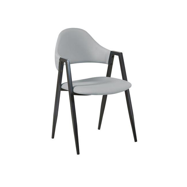 сив стол с метална конструкция черна delta1