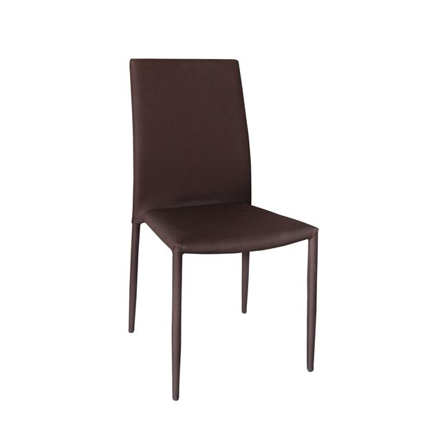 кафяв трапезарен метален стол e-00012660-enlarge