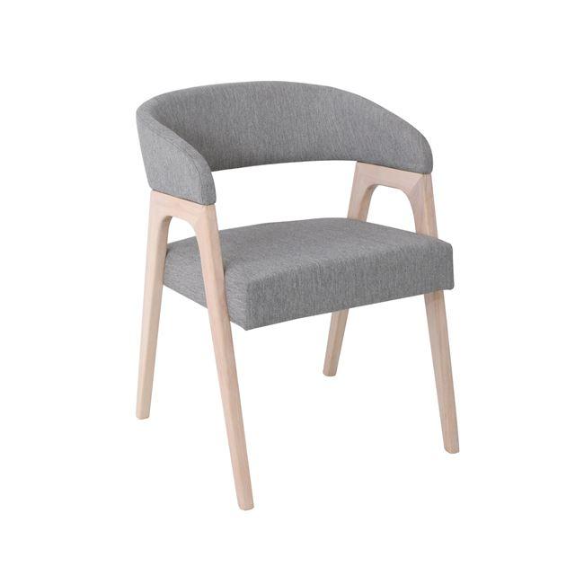 сив дървен стол Покер
