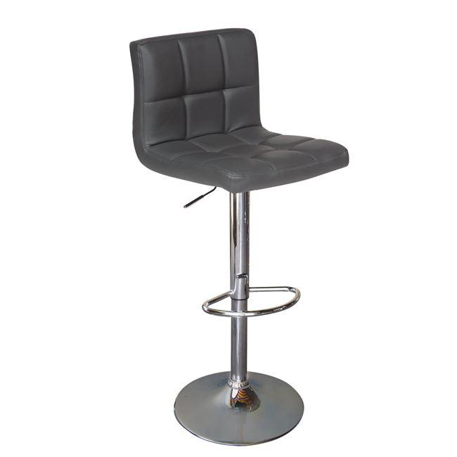 сив бар стол Лино с хромирана конструкция