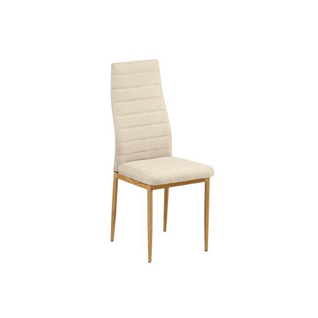 бежов метален трапезарен стол e-00019184-enlarge