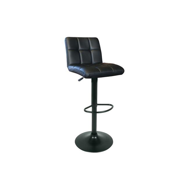 черен бар стол Лино с черна контрукция