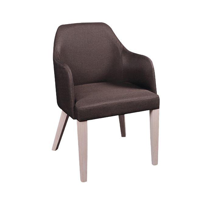 кафяв дървен стол edward