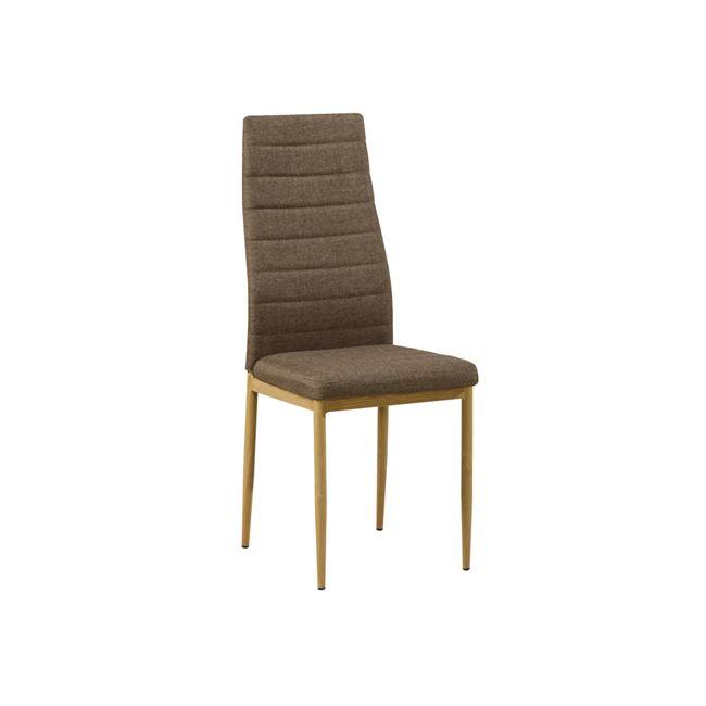 метален,кафяв,трапезарен стол jetta 1
