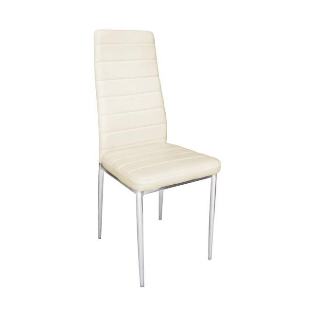трапезарен,метален стол,хром,екрю jetta ch 5
