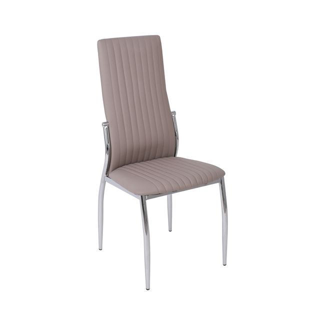 бежов стол,метален,хром line