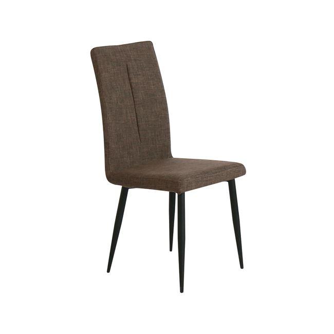 кафяв стол,метален mina