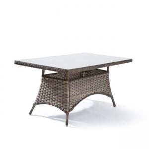 кафява маса със стъкло palmyra t