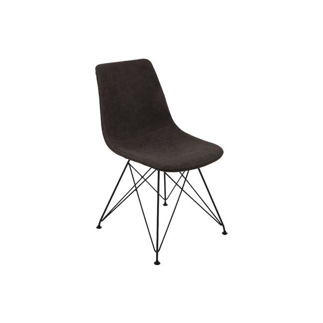 черен метален стол panton