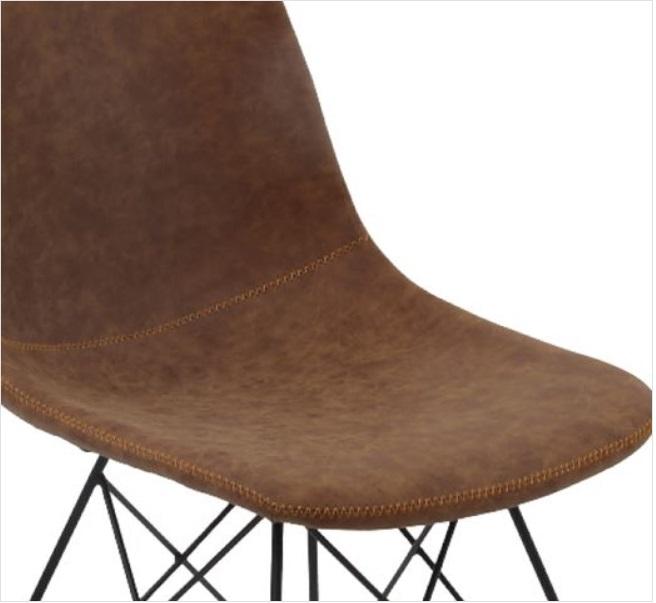 кафяв метален стол panton1