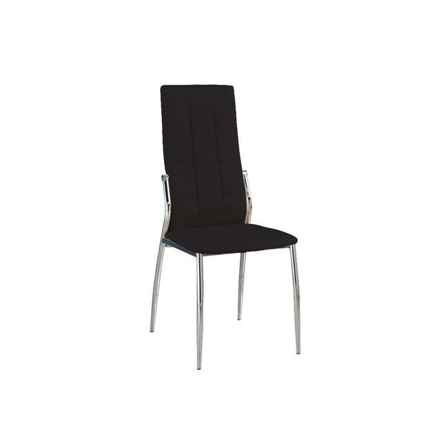 черен трапезарен метален стол prima2