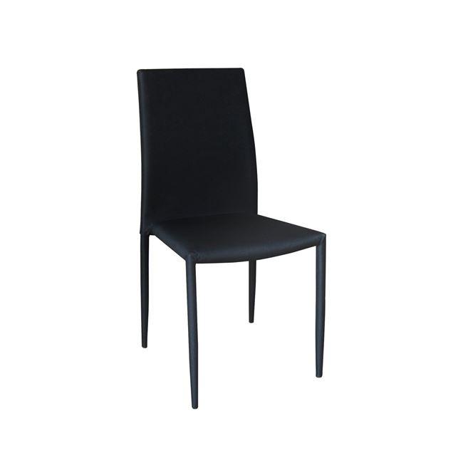 черен метален стол regina 2