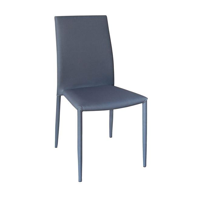 трапезарен метален стол,сив regina 3