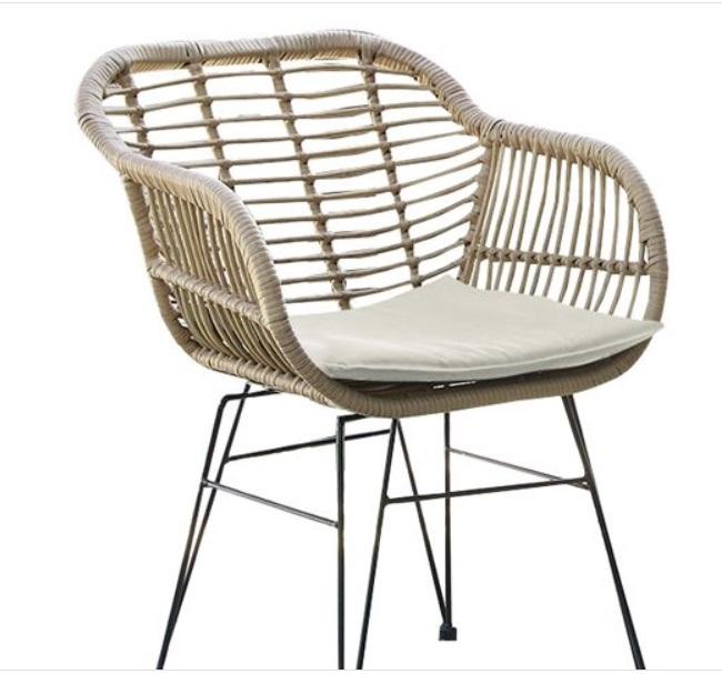 метален стол в бежово salsa beige arm