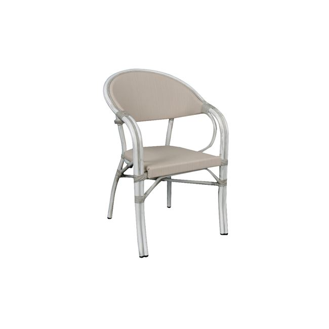 бял стол ,алуминий,текстилен,vegera 4
