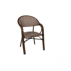кафяв стол ,алуминийтекстилен,vegera brown