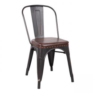 черен градинки метален стол Е5191Р,10