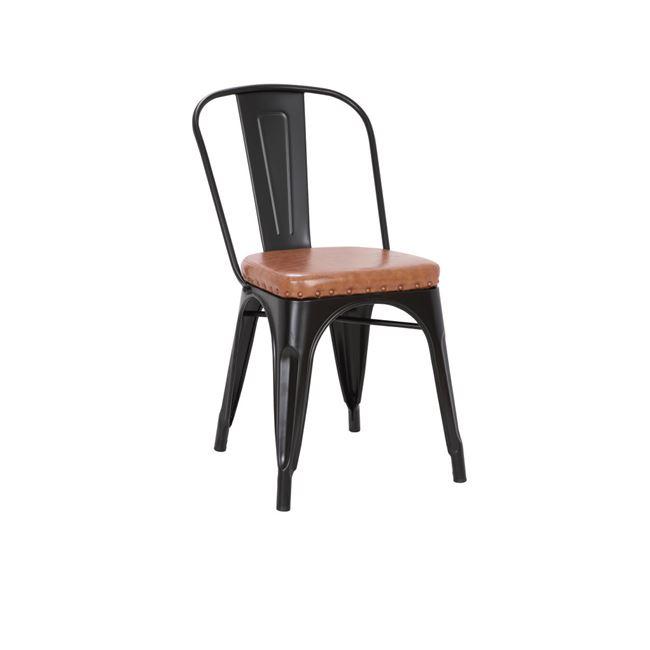 черен градински метален стол Е5191,14М