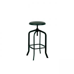черен,метален,градински бар стол 5137,1