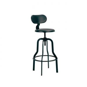 черен,метален,градински бар стол 5138,1